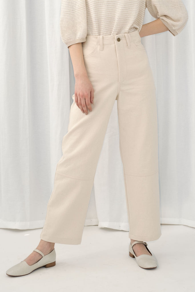 Cream Seamed Jean