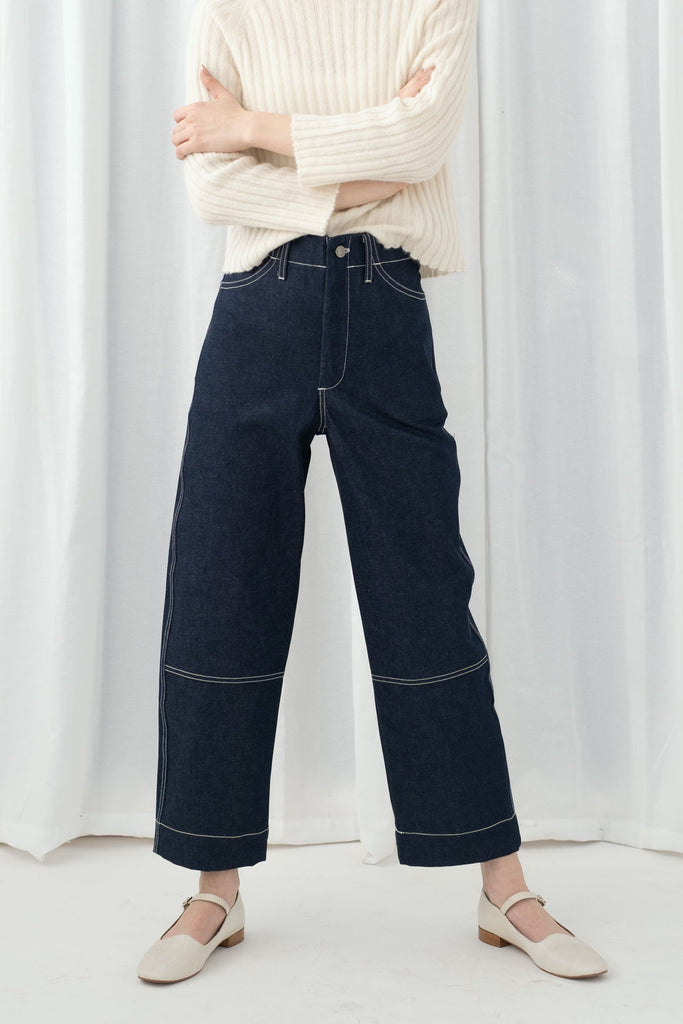 Rigid Indigo Seamed Jean
