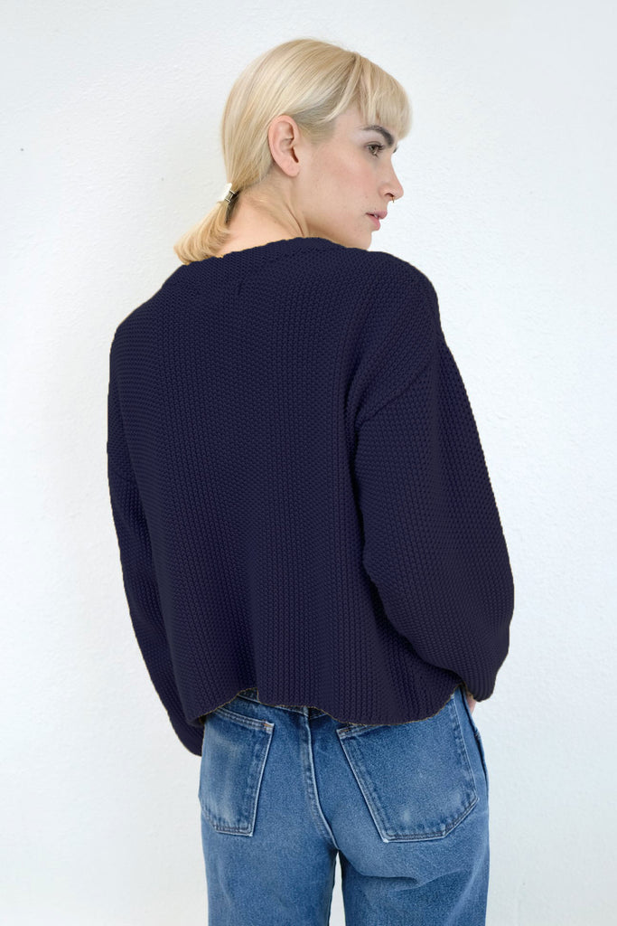Navy Seed Sweater