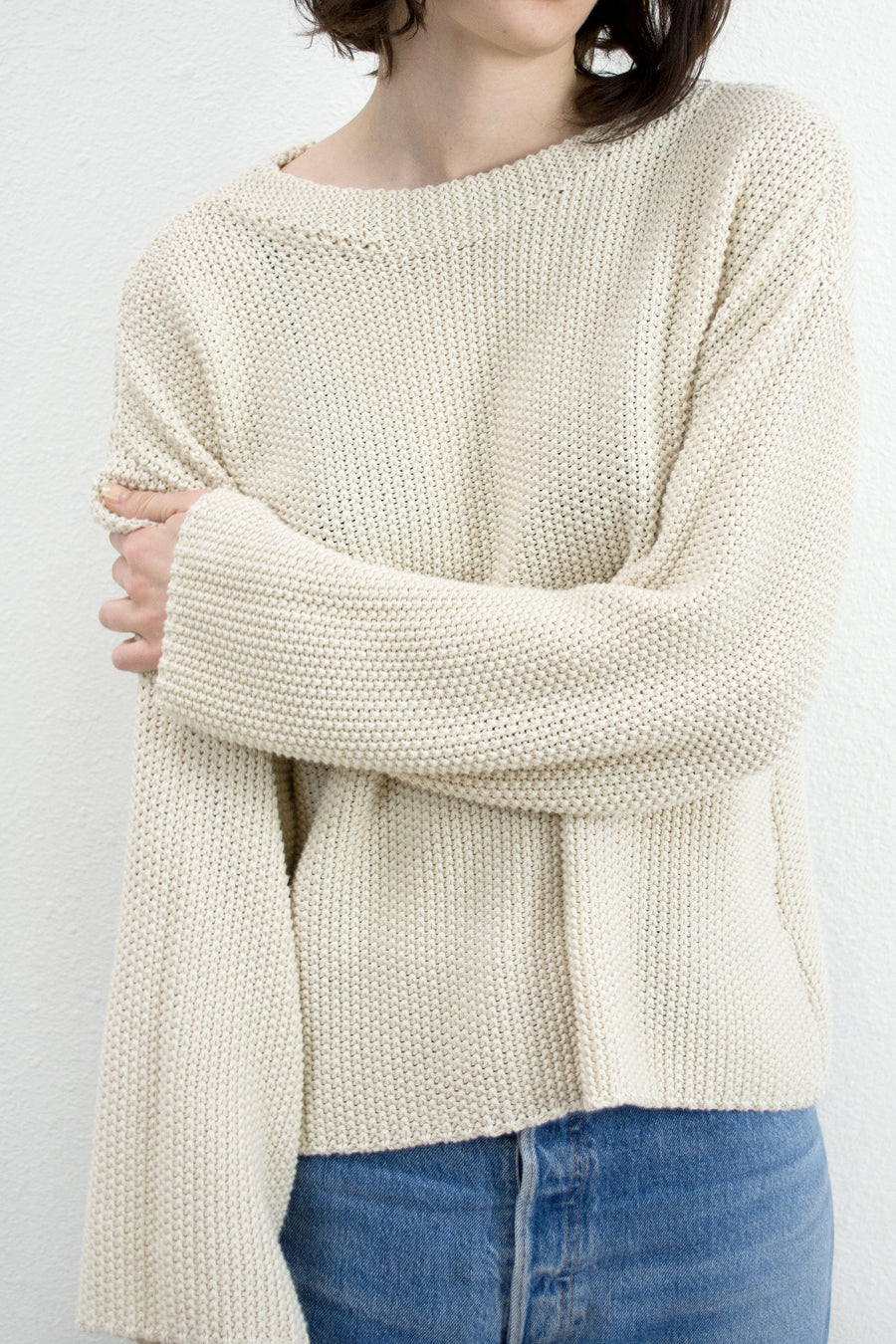 Cream Seed Sweater