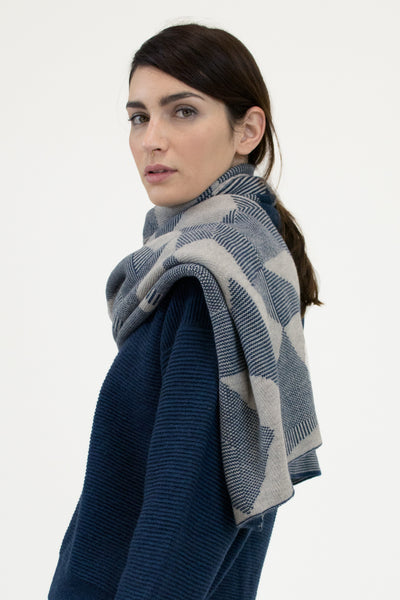 Moonlight Blue Spectrum Scarf