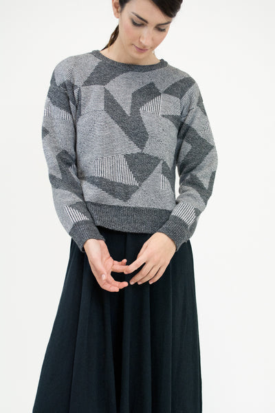 Grey Spectrum Sweater