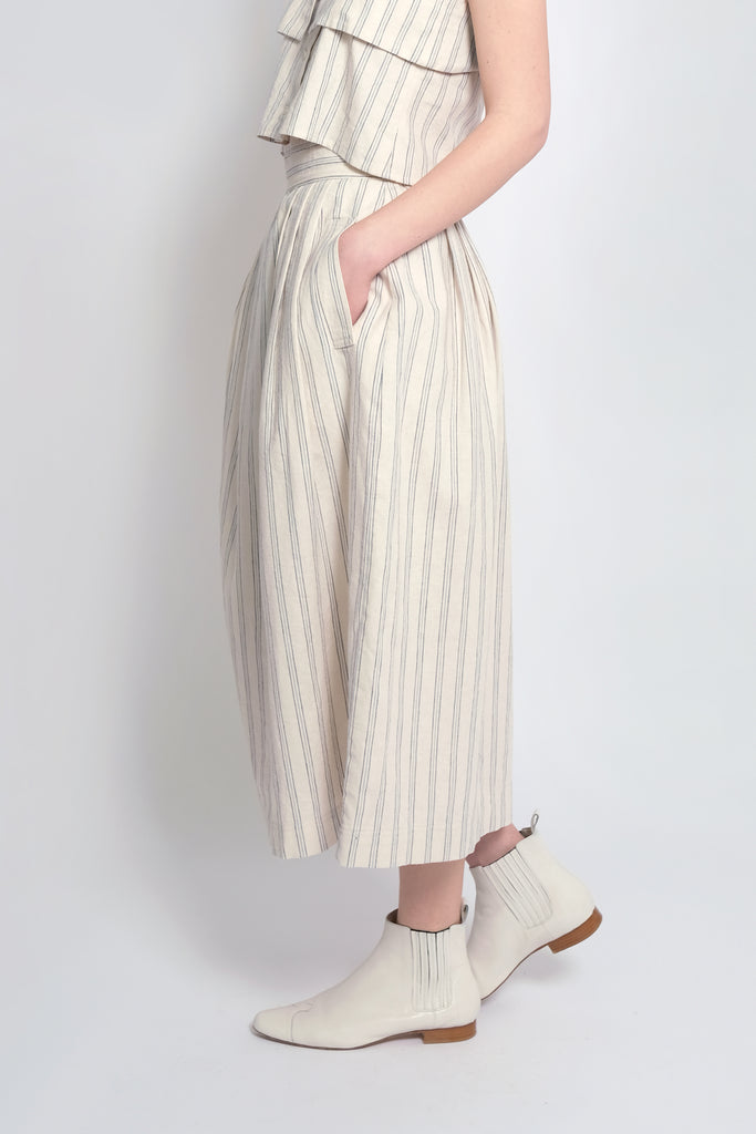 Striped Ellis Pleated Skirt