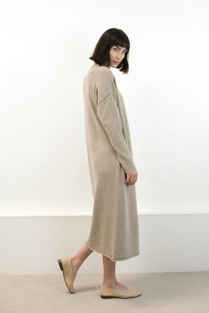 Speckle Camel Sweater Dress