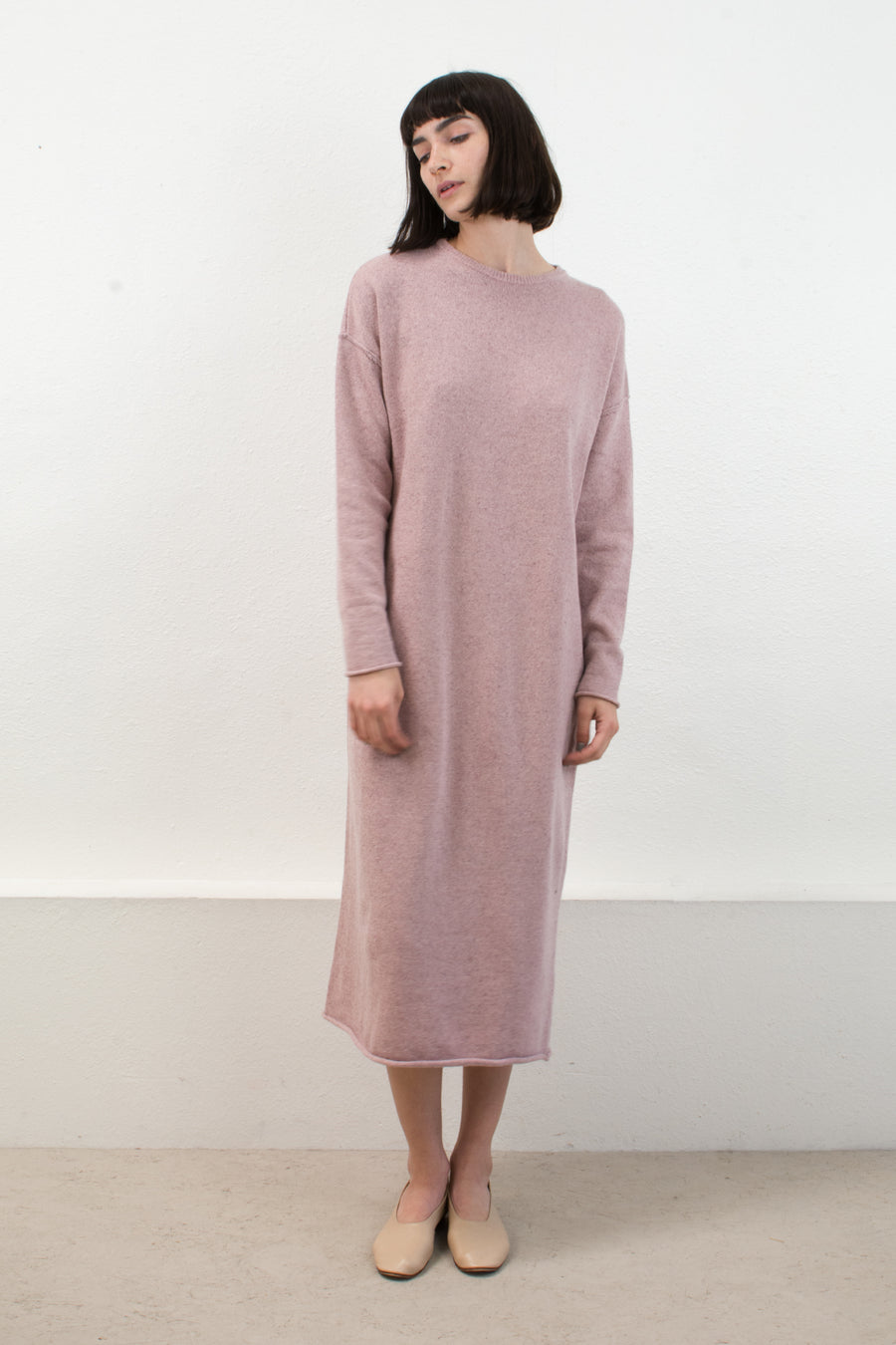 Speckle Rose Sweater Dress