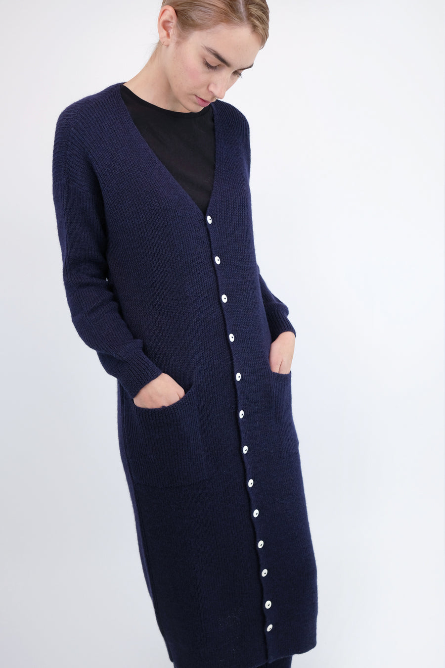Navy Tower Cardigan