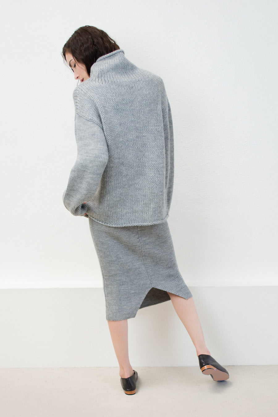 Melange Grey Tube Skirt