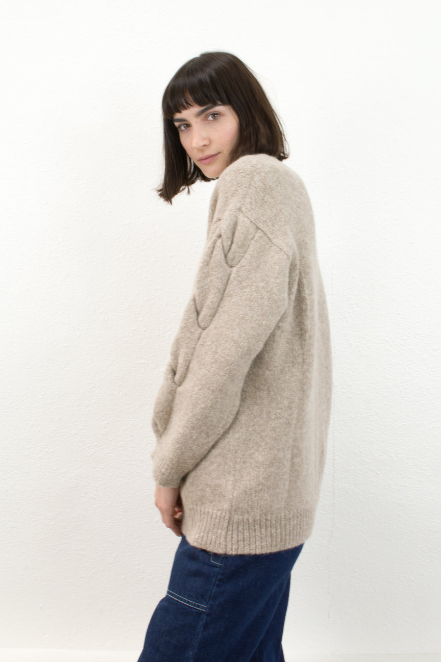 Oatmeal Twist Cardigan