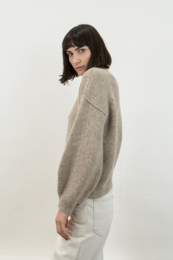 Oatmeal Twist Cable Sweater