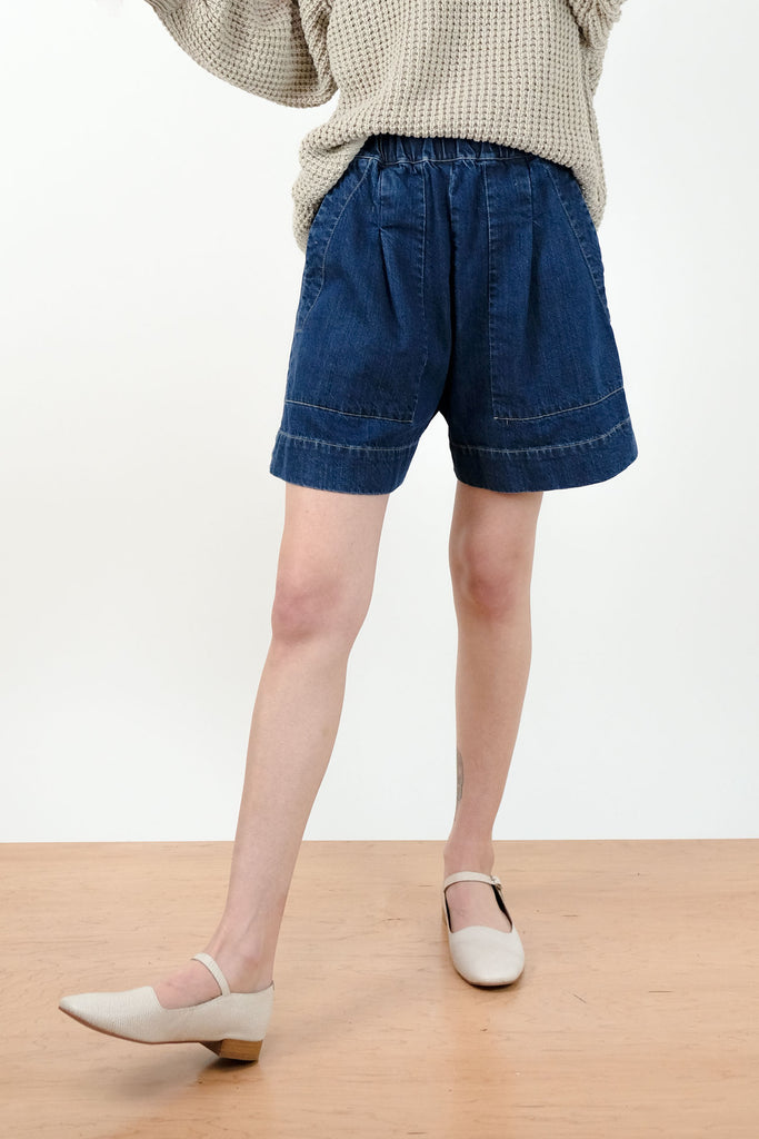 True Indigo Utility Short