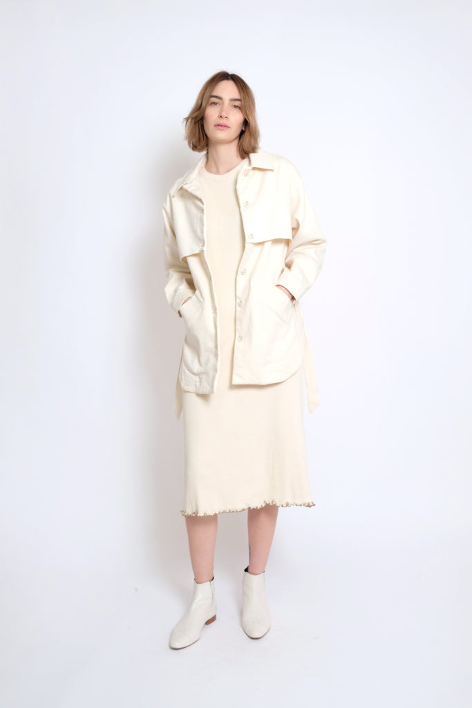 Cream Trench Jacket