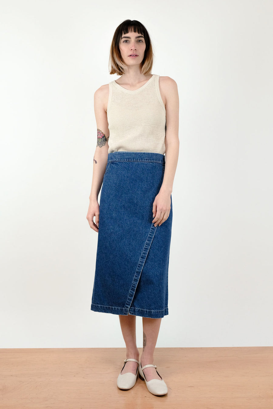 Haze Indigo Wrap Skirt