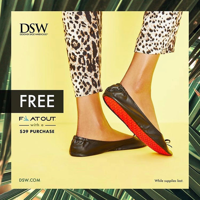 Flat Out Partners with DSW to Offer Free Flats to Customers