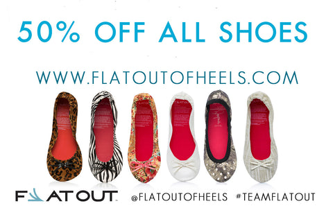 50% off Flat Out of Heels Sale