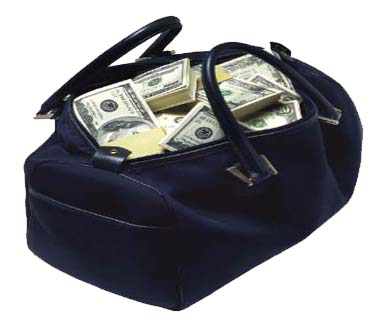 cash in bag
