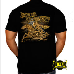OFFICIAL FOUR CORNERS 2016, SKELETON RIDER T-SHIRT