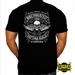 Official 2016 Biketoberfest Winged Skull, T-Shirt