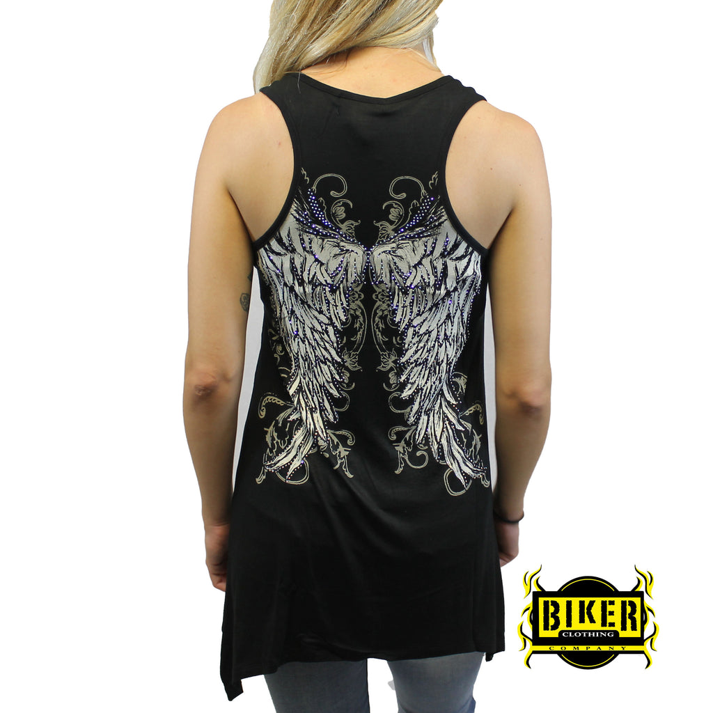 Angel Wings U-Neck Tank Top