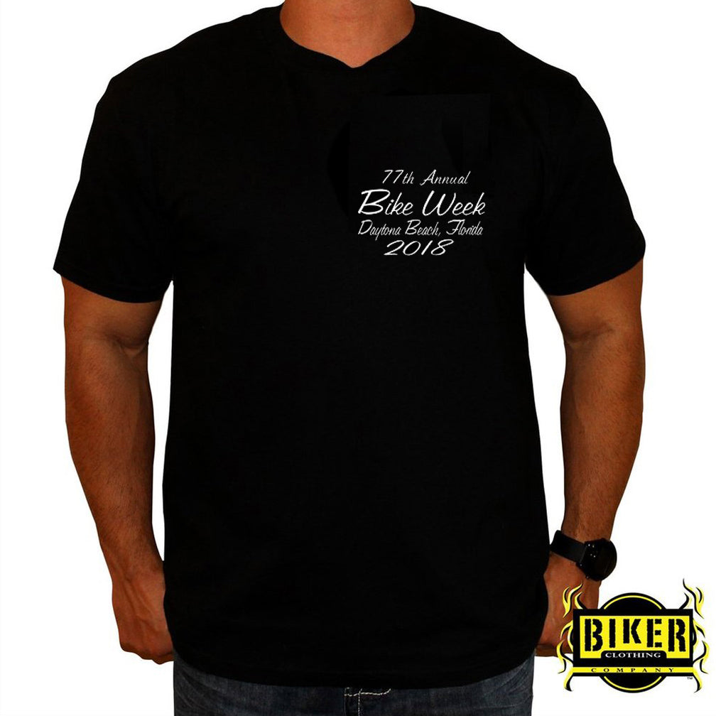 2018 Official Daytona Bike Week Smoked Skull T-Shirt