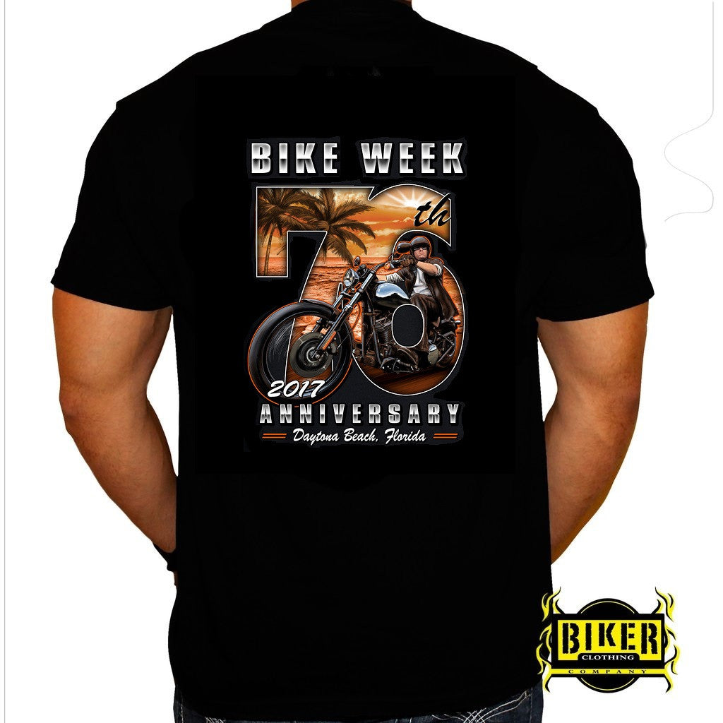 2017 Official Daytona Bike Week Big 76 T-Shirt