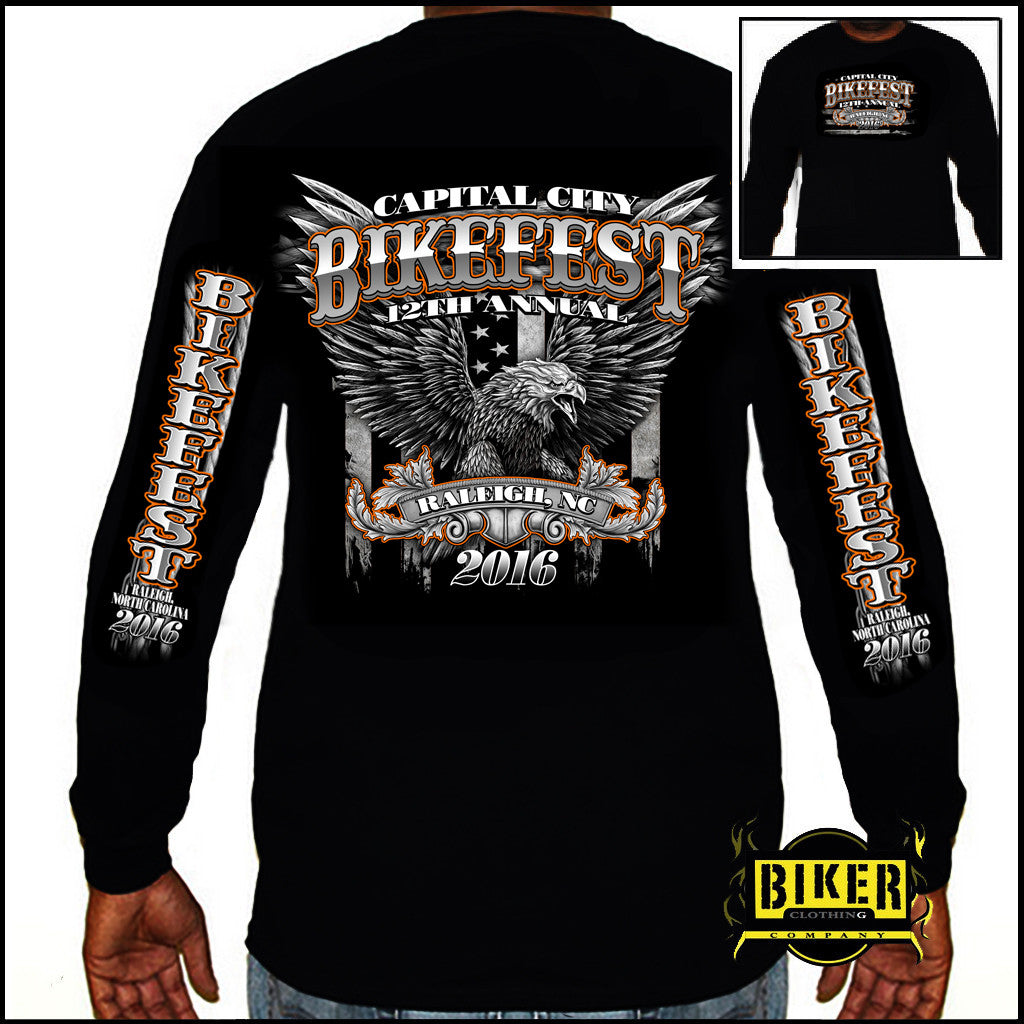 2016 Official Capital City Bikefest Big Eagle, Long Sleeves