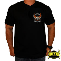 2018 Official Daytona Bike Week Orange Skull T-Shirt