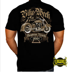 2018 OFFICIAL  DAYTONA BIKE WEEK, BROWN BIKE T-SHIRT