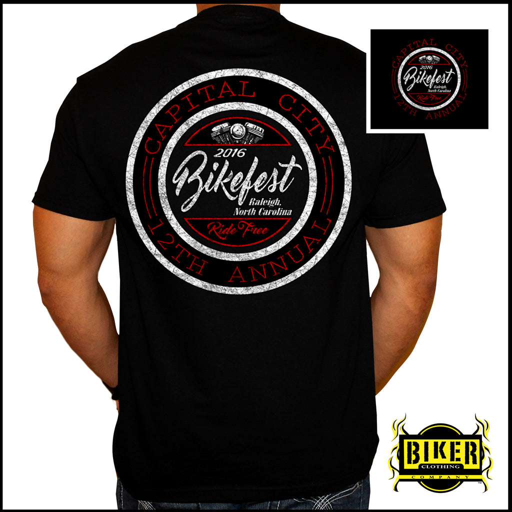 2016 Official Capital City Bikefest Classic Seal, T-Shirt
