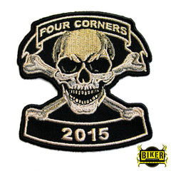 2015 Ignacio Four Corners Skull Patch-Small