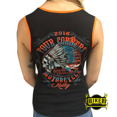OFFICIAL FOUR CORNERS 2016, INDIAN SKULL TANK TOP
