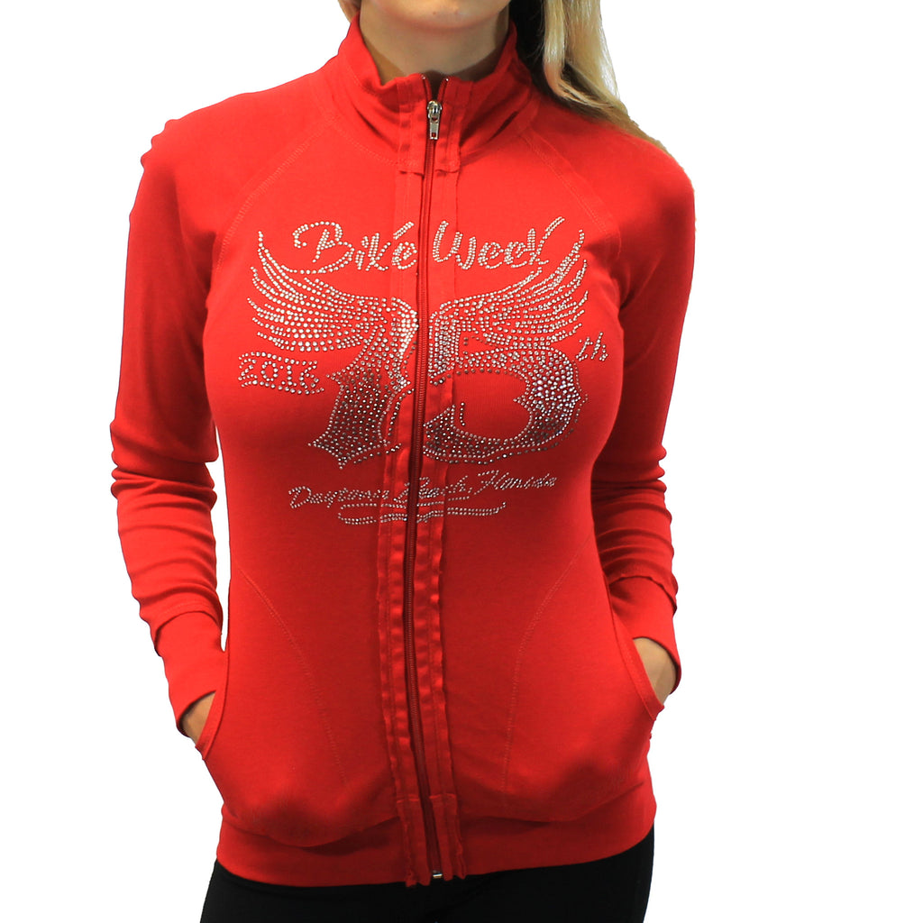 Daytona Beach 2016 Silver Wing 75th Ladies Long Sleeve