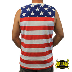 American Flag Sleeveless T-Shirt