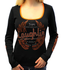 2016 Laughlin River Run Orange Long Sleeve Top
