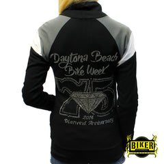 2016 Daytona Beach Bike Week 75th Diamond Zipper Long-Sleeve