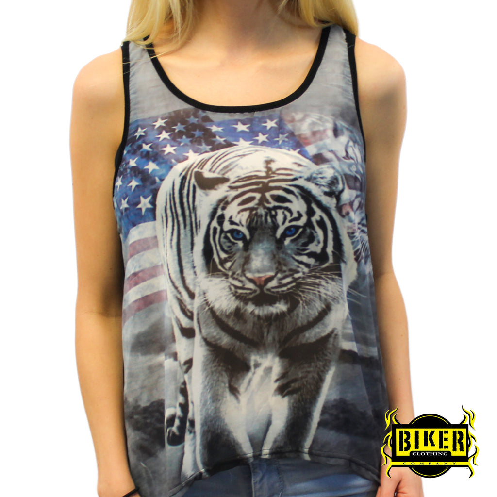 American White Tiger Tank Top