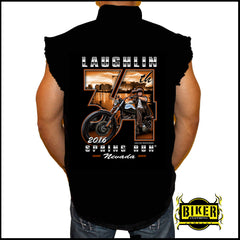 Official 2016 Laughlin River Run 34th Anniversary Sleeveless Denim