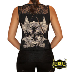 Lace Cut Out Fashion Top