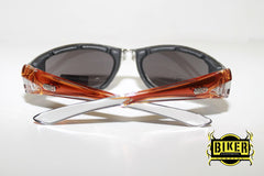 Eye Q USA Two-Tone Dark Thin Sunglasses (Available Colors: Black, Orange & Pink)