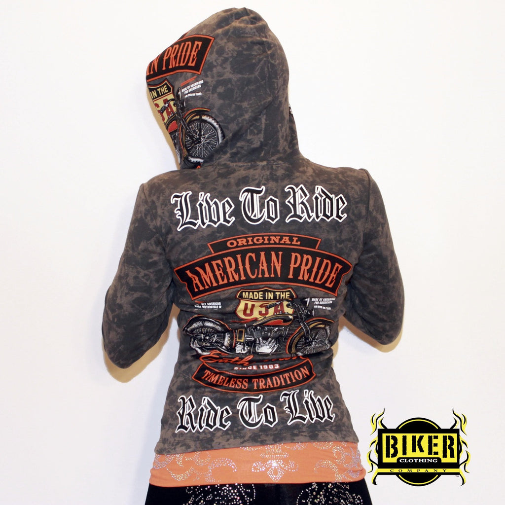 Custom Live To Ride Original Hooded Long Sleeve