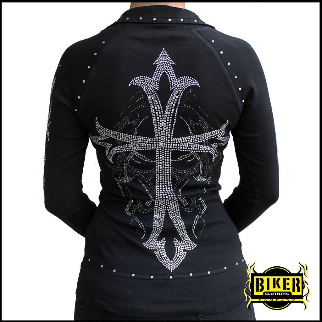 Custom Black Cross Long Sleeve