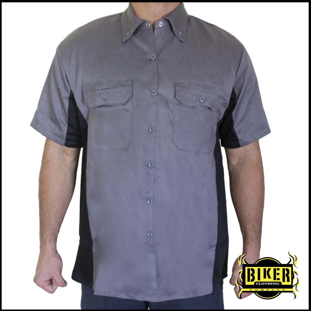 Custom High Roller Mechanic Button Down