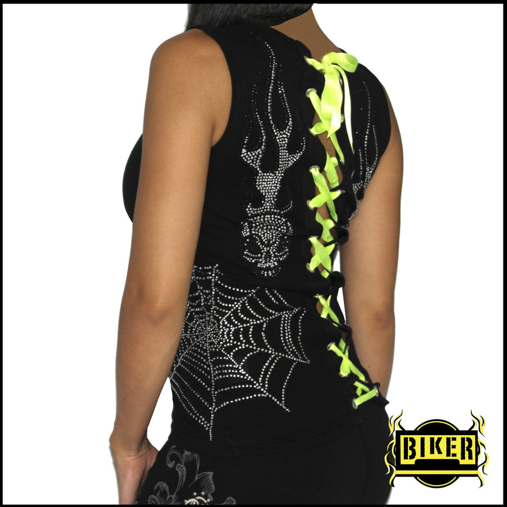 Corset Web Fashion Top - Black