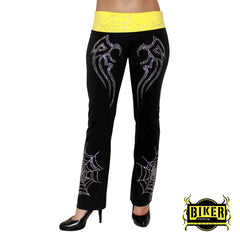 Tribal Stone Pants - Black/Yellow