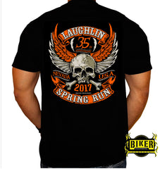 Official 2017 Laughlin River Run Orange Skull T-shirt