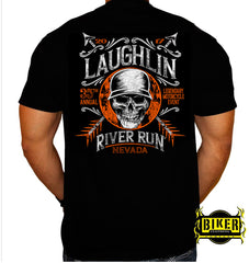 Official 2017 Laughlin River Run Helmet Skull T-shirt