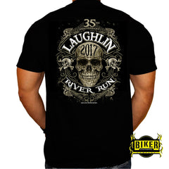 Official 2017 Laughlin River Run New Skull T-shirt