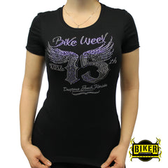 Official 2016 Daytona Beach Bike Week 75th Wing Lady Fashion