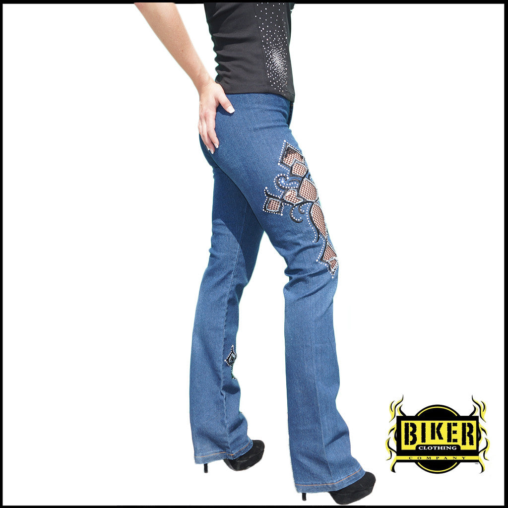 Cut-Out Jean Pants