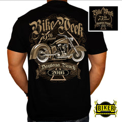 OFFICIAL 2016 DAYTONA BIKE WEEK, CLASSIC SPADE BIKE T-SHIRT