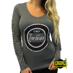 2016 Laconia Motorcycle Rally Circle Design Long Sleeve